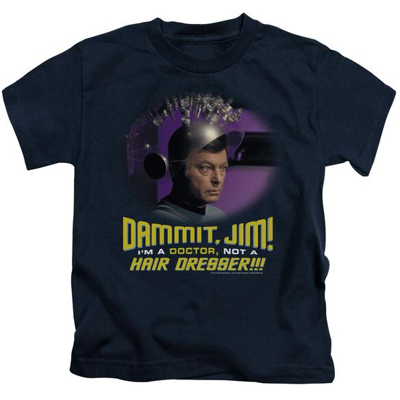 Star Trek Not A Hair Dresser Short Sleeve Juvenile Navy T-Shirt