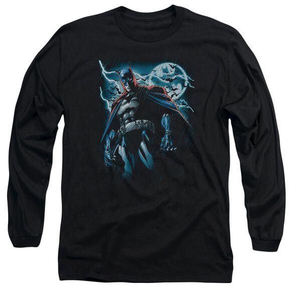 BATMAN STORMY KNIGHT - L/S ADULT 18/1 - BLACK T-Shirt