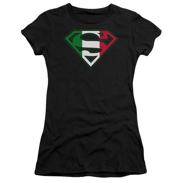 Superman Italian Shield Short Sleeve Junior Sheer T-Shirt