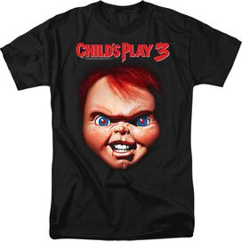 CHILDS PLAY 3 CHUCKY - S/S ADULT 18/1 - BLACK T-Shirt