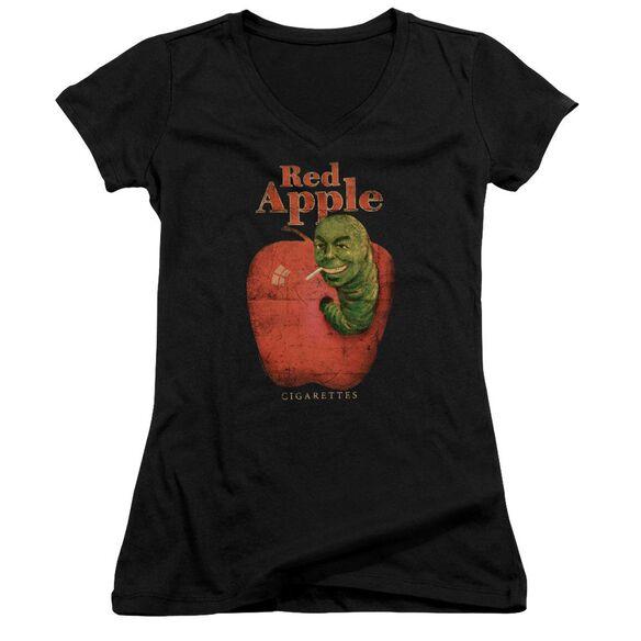 Pulp Fiction Red Apple Junior V Neck T-Shirt