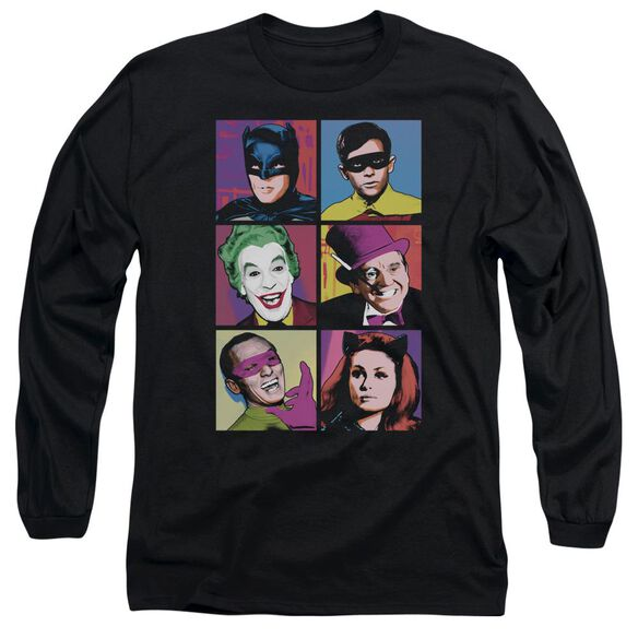 Batman Classic Tv Pop Cast Long Sleeve Adult T-Shirt