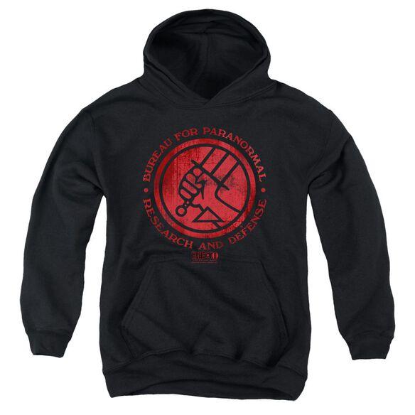 Hellboy Ii Bprd Logo Youth Pull Over Hoodie