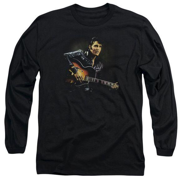 ELVIS PRESLEY 1968 - L/S ADULT 18/1 - BLACK T-Shirt