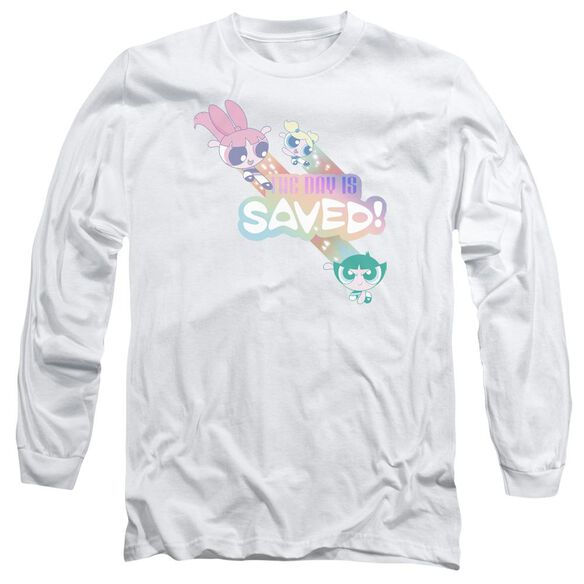 Powerpuff Girls The Day Is Saved Long Sleeve Adult T-Shirt