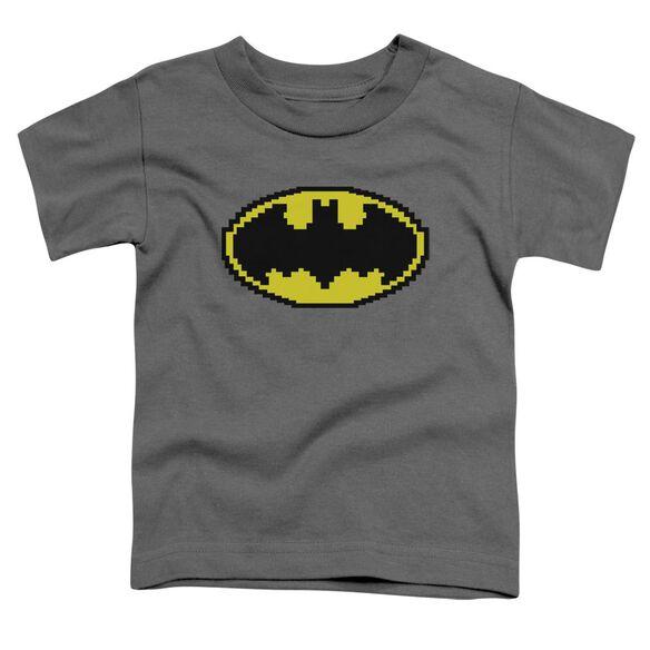 Batman Pixel Symbol Short Sleeve Toddler Tee Charcoal Sm T-Shirt
