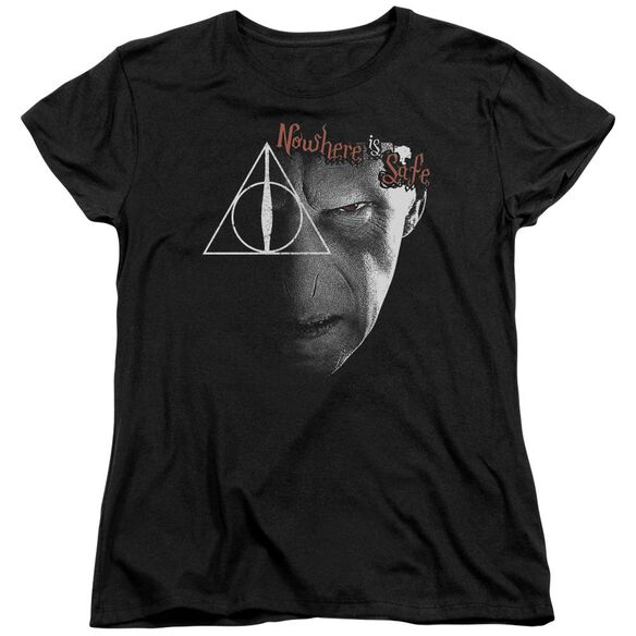 Harry Potter Nowhere Is Safe Short Sleeve Womens Tee T-Shirt