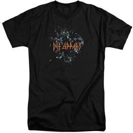 Def Leppard Broken Glass Short Sleeve Adult Tall T-Shirt