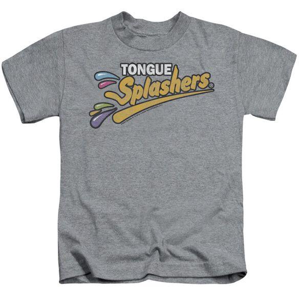 Dubble Bubble Tongue Splashers Logo Short Sleeve Juvenile Athletic Heather Md T-Shirt