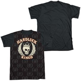 Hardluck Kings Pattern Short Sleeve Adult Front Black Back T-Shirt
