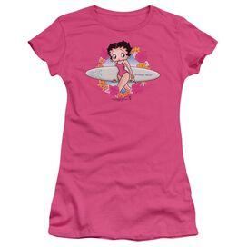 Betty Boop Surf Short Sleeve Junior Sheer Hot T-Shirt