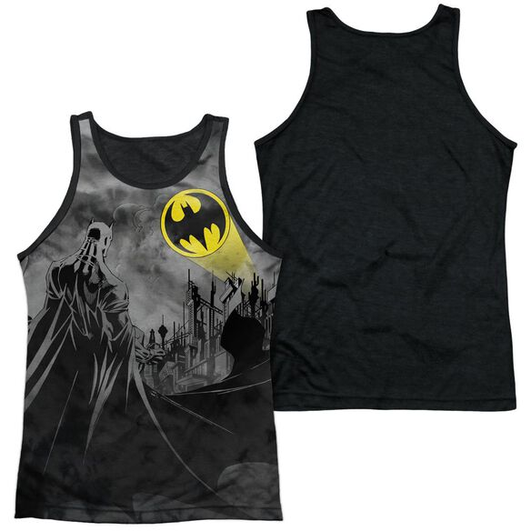 Batman Heed The Call Adult Poly Tank Top Black Back