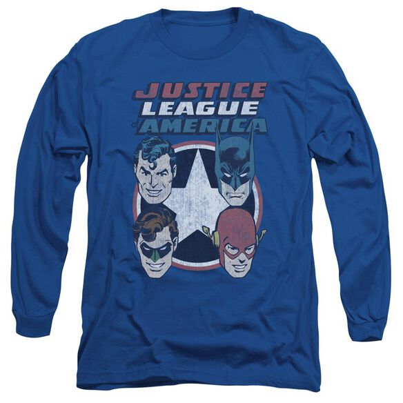 Dco 4 Stars Long Sleeve Adult Royal T-Shirt