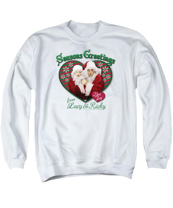 I Love Lucy Seasons Greetings Adult Crewneck Sweatshirt