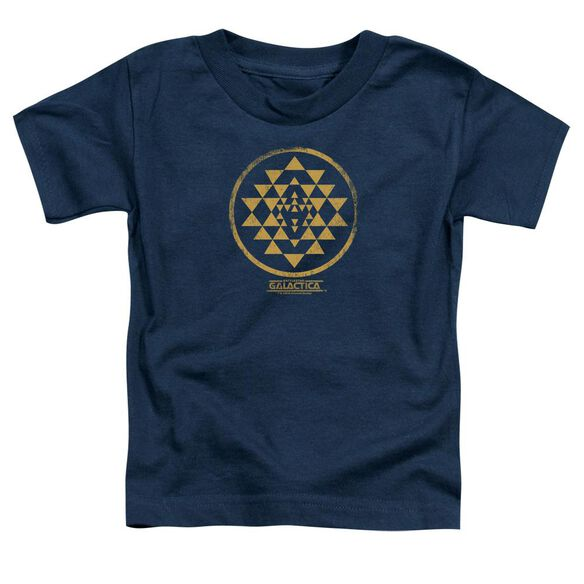 Bsg Gold Squadron Patch Short Sleeve Toddler Tee Navy T-Shirt