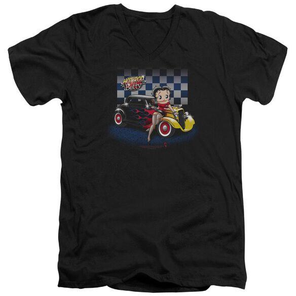 Betty Boop Hot Rod Boop Short Sleeve Adult V Neck T-Shirt
