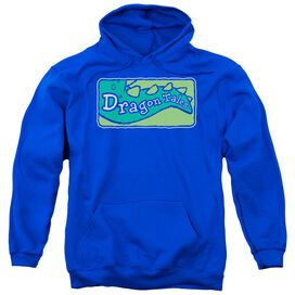 Dragon Tales Logo Clean Adult Pull Over Hoodie Royal