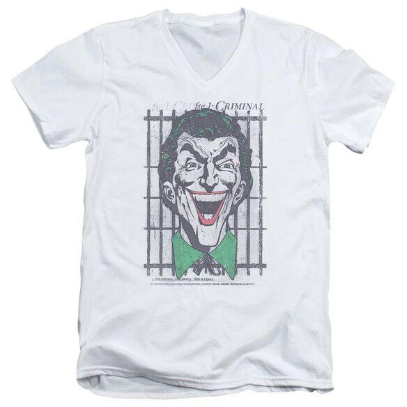 Dc Criminal Short Sleeve Adult V Neck T-Shirt