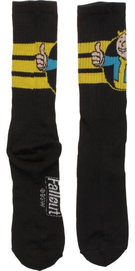 Fallout Vault Boy Mascot Active Crew Socks
