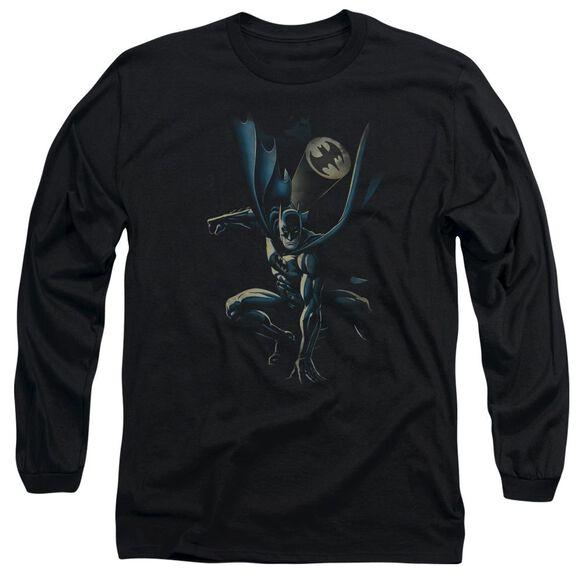 BATMAN CALLING ALL BATS - L/S ADULT 18/1 - BLACK T-Shirt