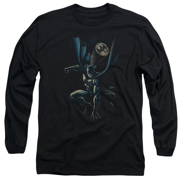 Batman Calling All Bats Long Sleeve Adult T-Shirt