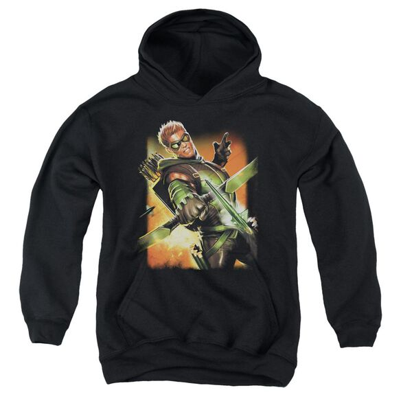 Jla Green Arrow #1 Youth Pull Over Hoodie