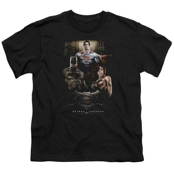 Batman V Superman Thre Three Short Sleeve Youth T-Shirt