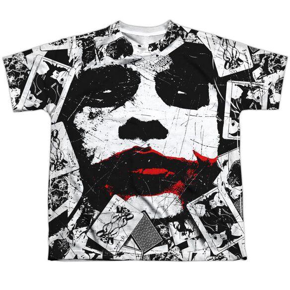 Dark Knight Joke Doe Short Sleeve Youth Poly Crew T-Shirt
