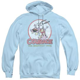Courage The Cowardly Dog Vintage Courage - Adult Pull-over Hoodie - Light Blue