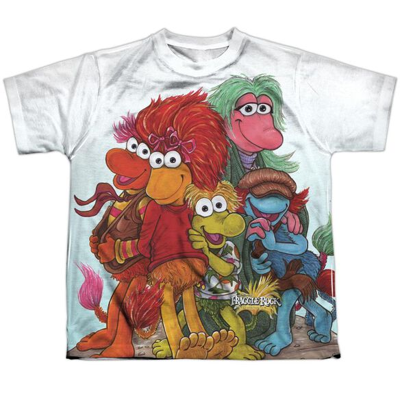 Fraggle Rock Group Shot Short Sleeve Youth Poly Crew T-Shirt