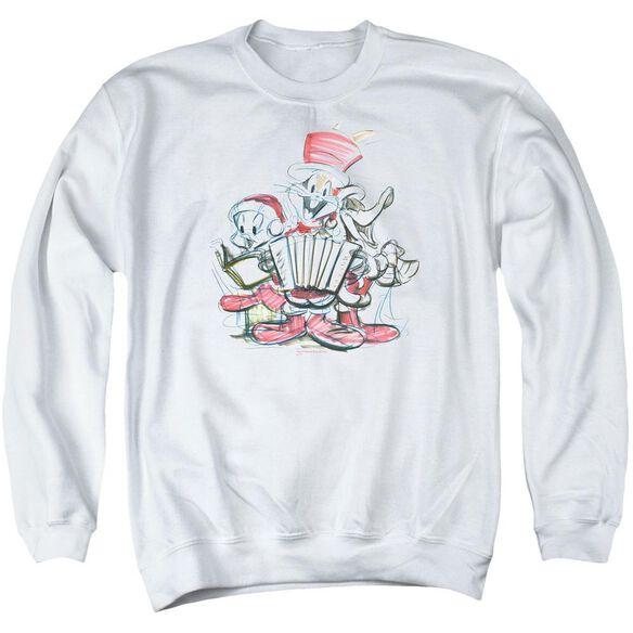 Looney Tunes Holiday Sketch Adult Crewneck Sweatshirt