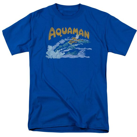 Dc Aqua Swim Short Sleeve Adult Royal T-Shirt