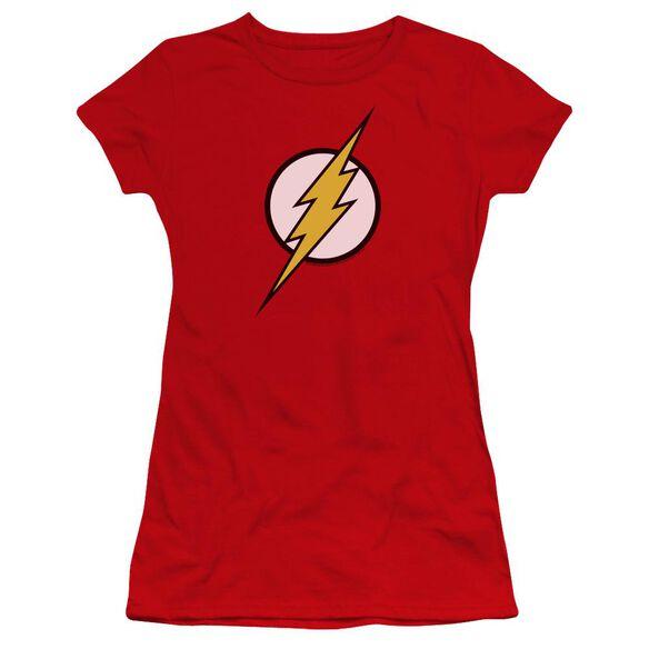 Jla Flash Logo Premium Bella Junior Sheer Jersey