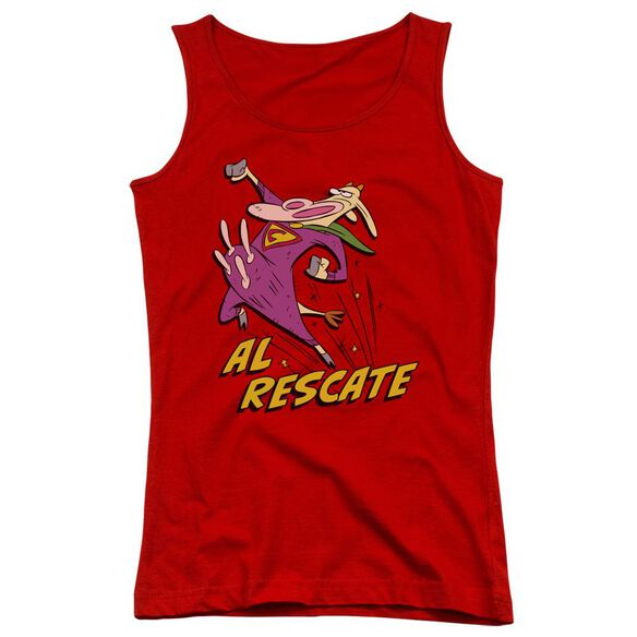 Cow And Chicken Al Rescate Juniors Tank Top