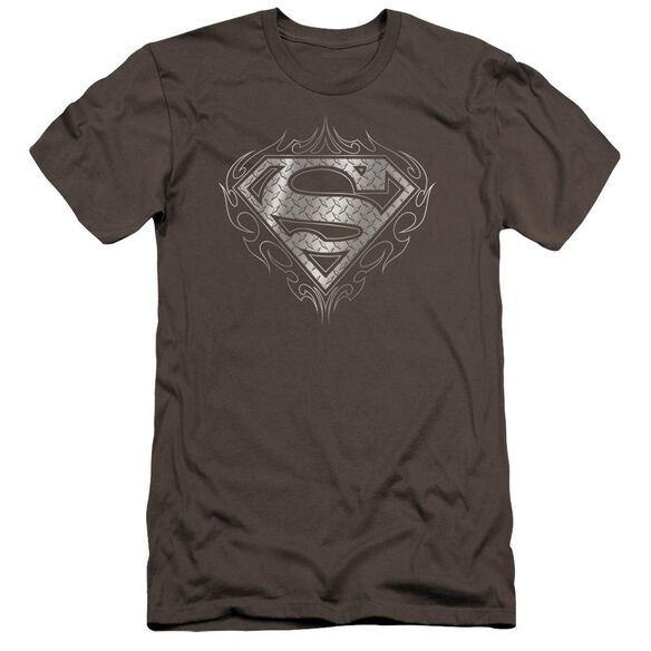 Superman Tribal Steel Logo Premuim Canvas Adult Slim Fit