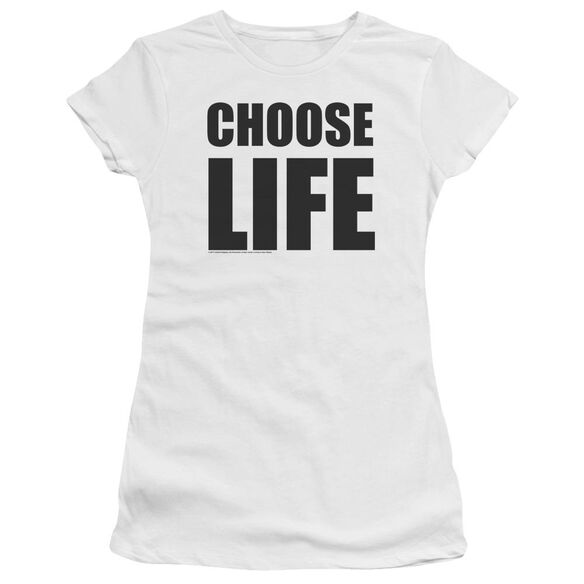Wham Choose Life Short Sleeve Junior Sheer T-Shirt