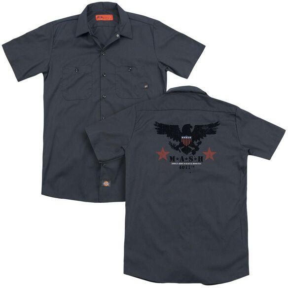 Mash Eagle(Back Print) Adult Work Shirt