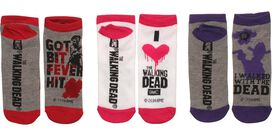 Walking Dead Bit Walked Ladies 3 Pk Low Socks Set