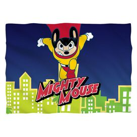 Mighty Mouse City Watch Pillow Case White