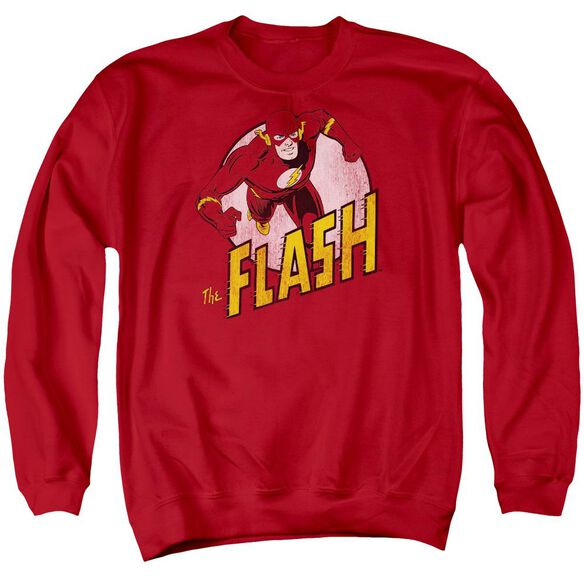 Dc The Flash Adult Crewneck Sweatshirt
