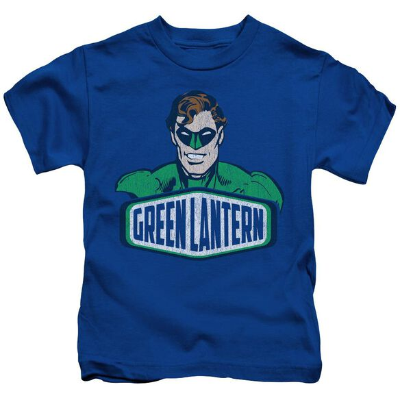 Dco Green Lantern Sign Short Sleeve Juvenile Royal Blue T-Shirt