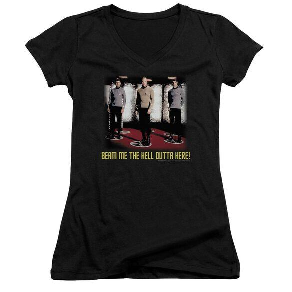 Star Trek Beam Me Out Junior V Neck T-Shirt