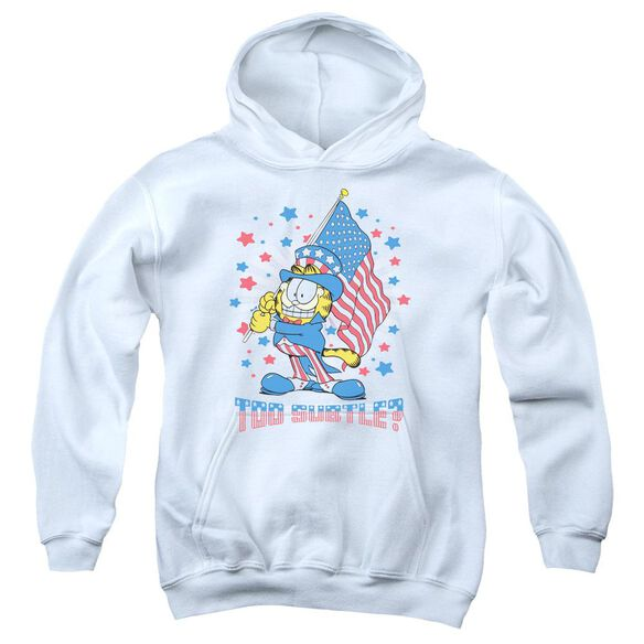 Garfield Subtle Youth Pull Over Hoodie
