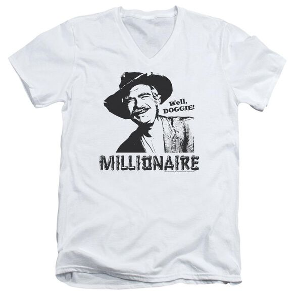 BEVERLY HILLBILLIES MILLIONAIRE - S/S ADULT V-NECK - WHITE T-Shirt