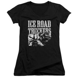 Ice Road Truckers Break The Ice Junior V Neck T-Shirt