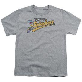 Dubble Bubble Tongue Splashers Logo Short Sleeve Youth Athletic T-Shirt