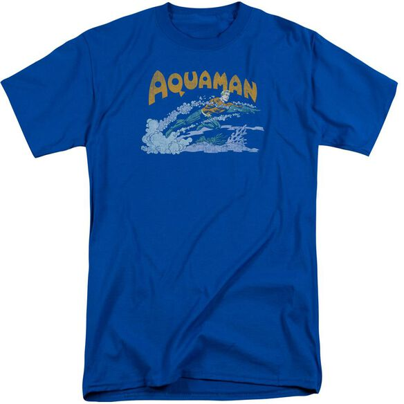 Dc Aqua Swim Short Sleeve Adult Tall Royal T-Shirt