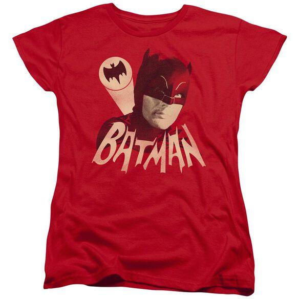 Batman Classic Tv Bat Signal Short Sleeve Womens Tee T-Shirt