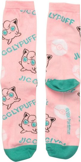 Pokemon Jigglypuff Name Crew Socks