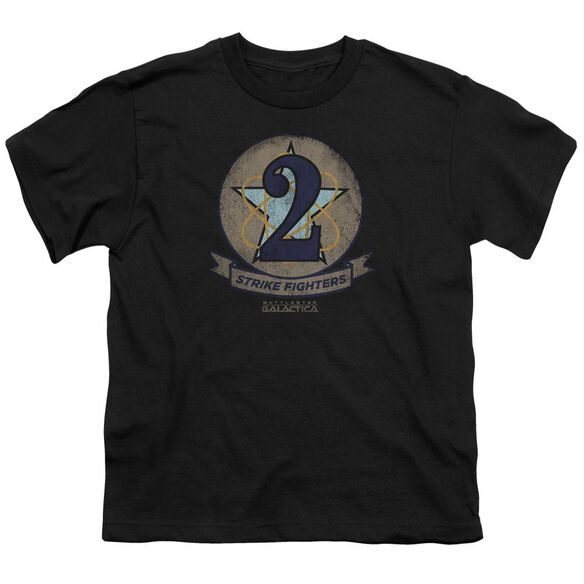 Bsg Strike Fighters Badge Short Sleeve Youth T-Shirt